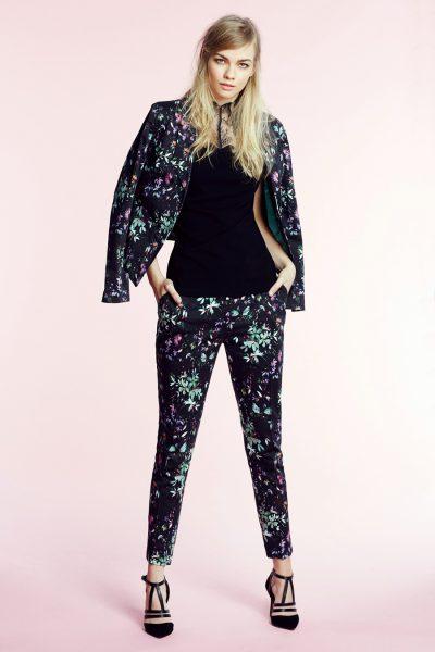 very_65871192764989 SS16, spring, summer, womenswear, summer essentials, suit jacket, printed suit jacket, blazer jacket, printed suit jacket, high neck top, black top, blue suit
